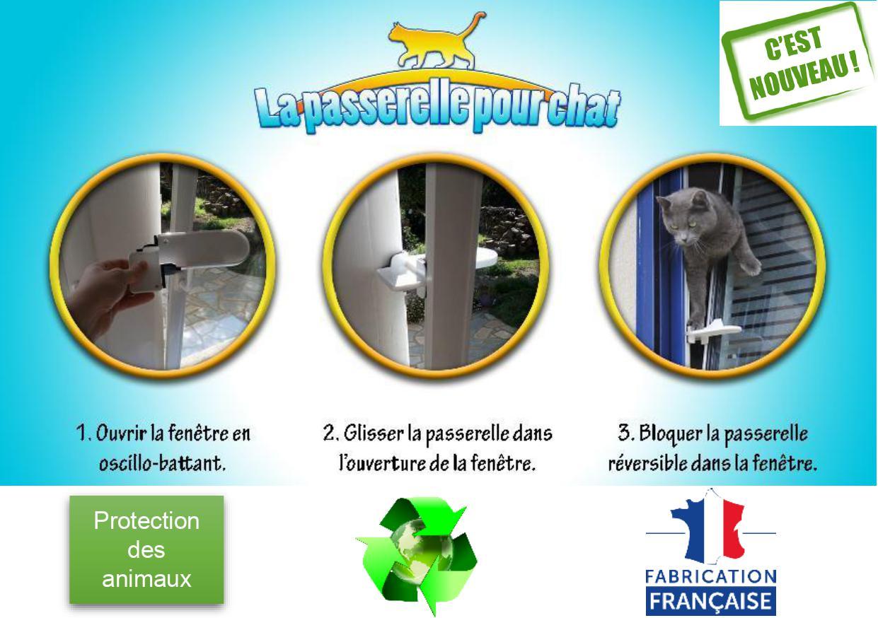 passerelle plastique pour chat